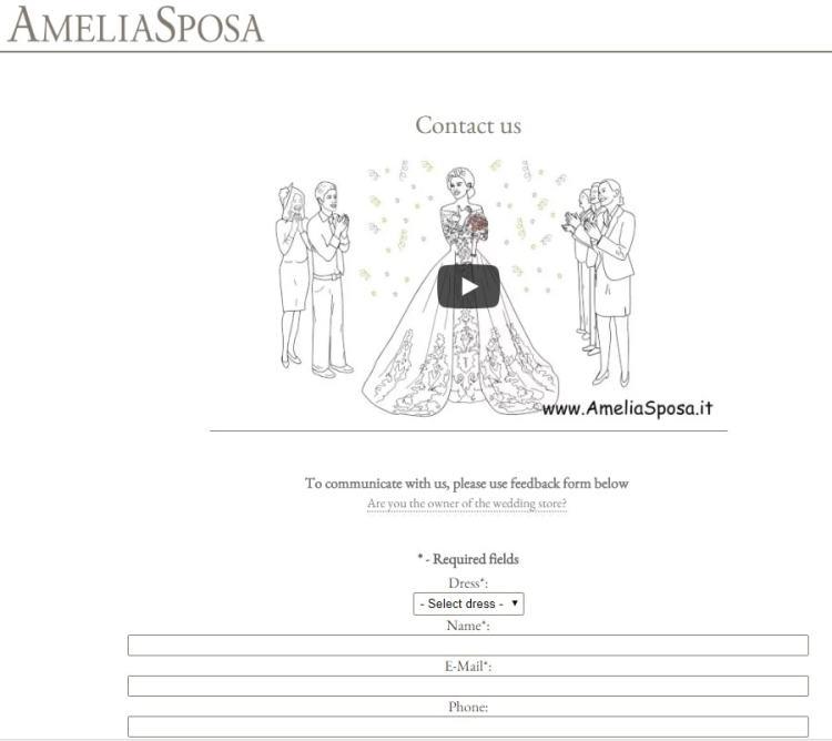 не итальянские свадбеные платья Амелия Споза
