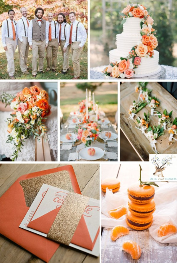 Cadmium Orange cvet svadba osen 2015