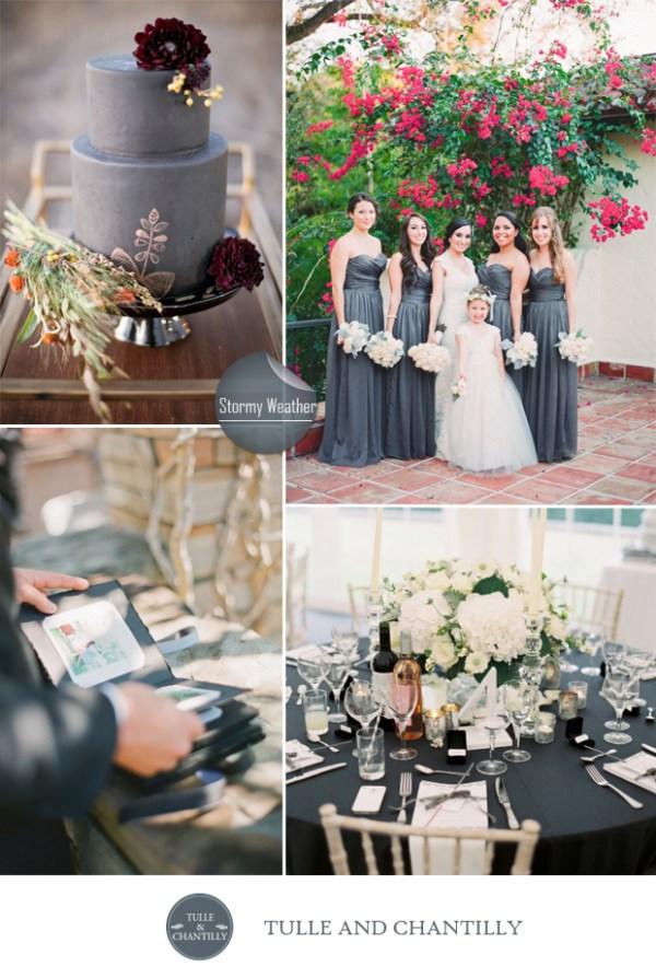 grey stormy weather wedding color ideas fall 2015 pantone