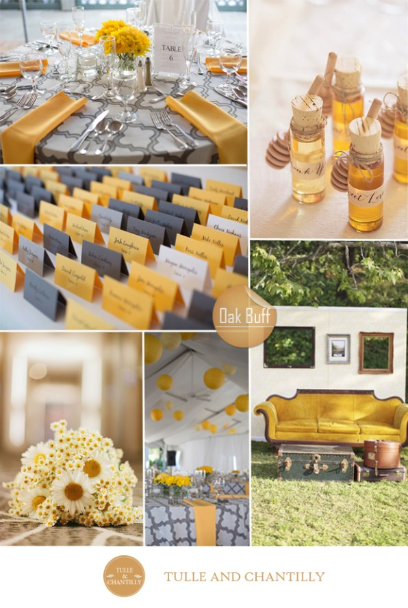 oak buff yellow grey wedding color ideas fall 2015 pantone