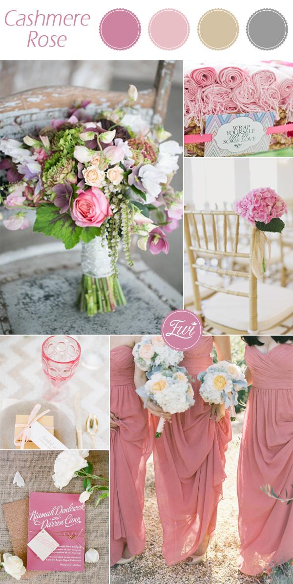 wedding color ideas fall 2015 pantone Cashmere Rose pink