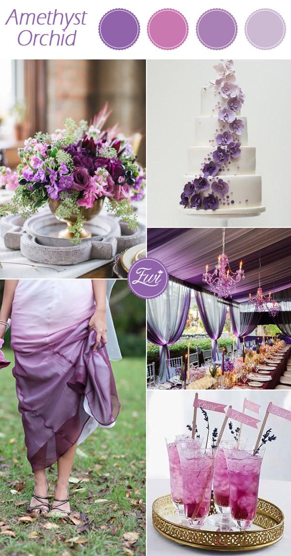 wedding color ideas fall 2015 pantone amethyst orchid