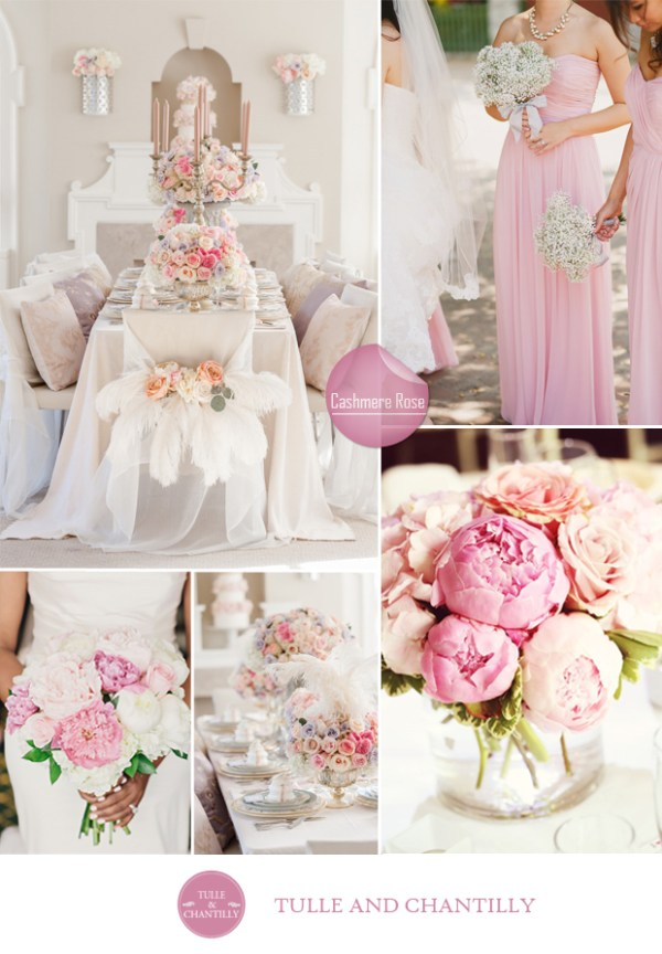 wedding color ideas fall 2015 pantone cashmere rose