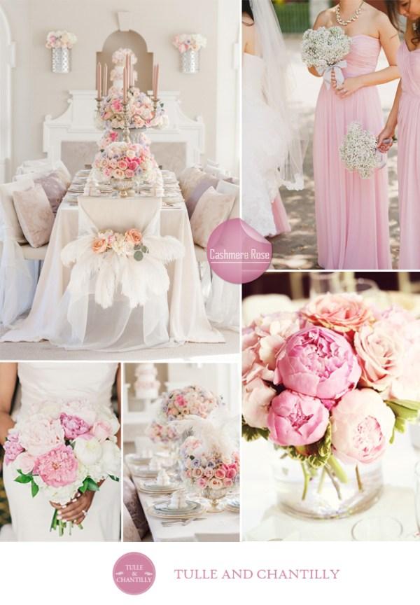 wedding color ideas fall 2015 pantone cashmere rose