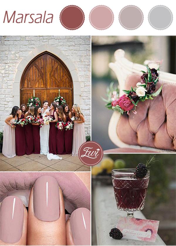 wedding color ideas fall 2015 pantone marsala