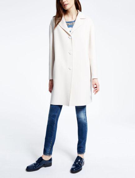 белое пальто Макс Мара