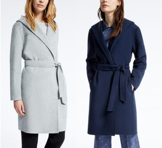 шерстяное пальто Макс Мара с запахом