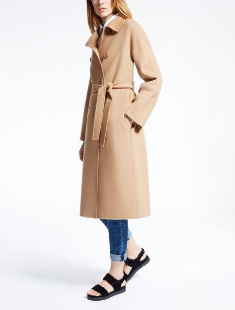 шерстяное пальто с запахом Макс Мара