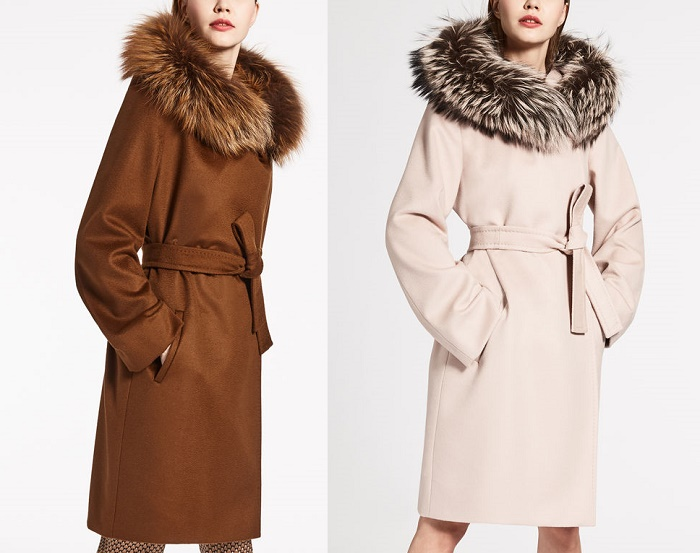пальто Мкакс Мара с мехом