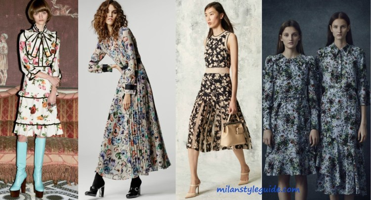 flowers print trend Pre Fall 2016 - milanstyleguide
