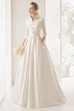 коллекция свадебных платьев Роза Клара с рукавом