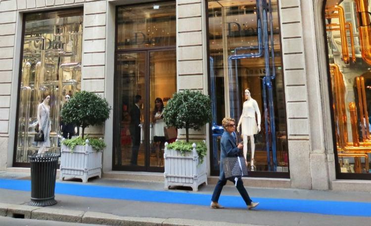 Dior Milan Montenapoleone-shopping Milan