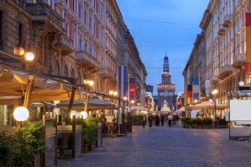 шоппинг на Вия Данте Милан
