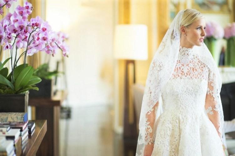 Nicky Hilton Valentino свадебное платье