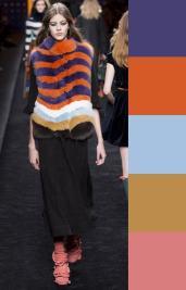 модная палитра с оранжевым