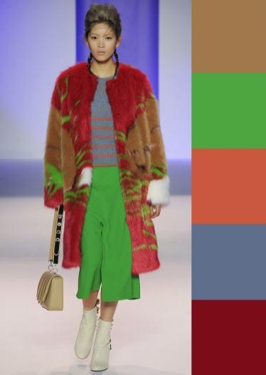сочетание цветов мода 2016 зеленый и красный
