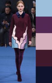 модная цветовая палитка с фииолетовым