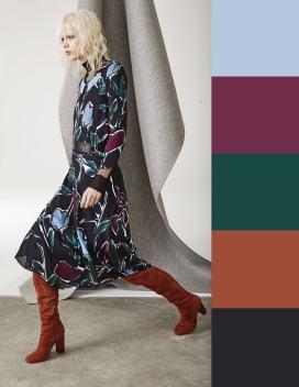 модно комбинировать цвета осени