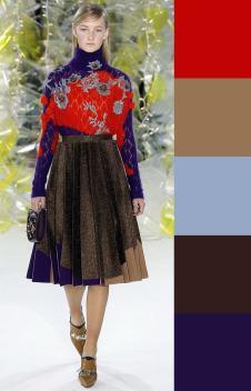модная цветовая комбинация осень 2016