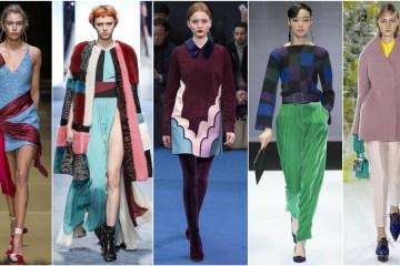 цвета осень зима 2016 модные комбинации с подиума
