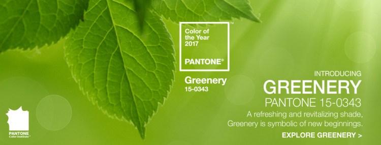 цвет года Пантон 2017 Greenery