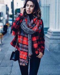 шарф осенью как модно