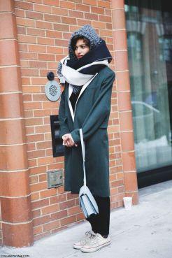 шарф street-style-fall