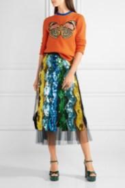 Gucci блестящая юбка осень 2016