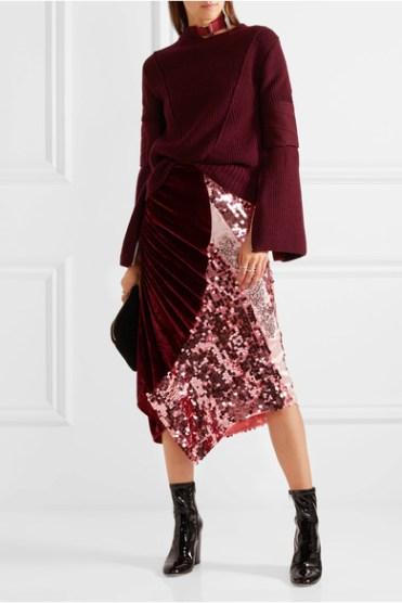 PREEN-BY-THORNTON-BREGAZZI блестящая юбка осень 2016