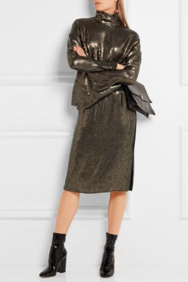 Tibi блестящая юбка осень 2016