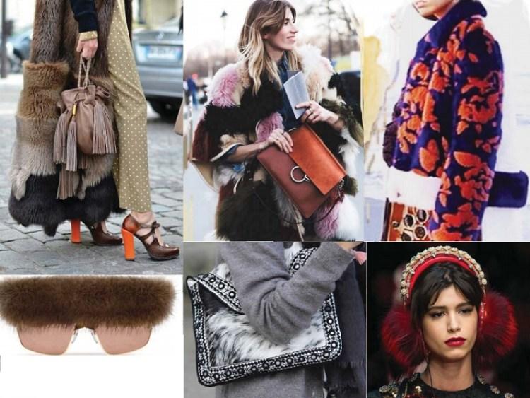 модный тренд шубы и мех - яркие цвета