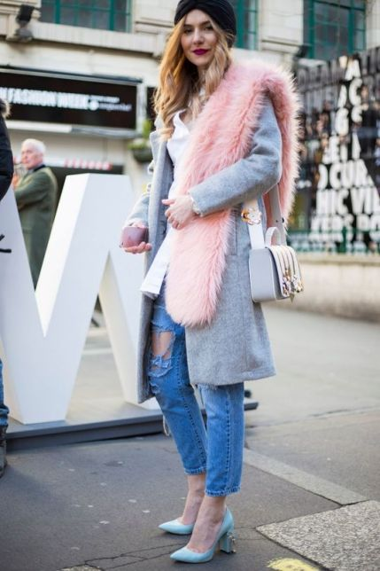 как модно носить меха зима 2016