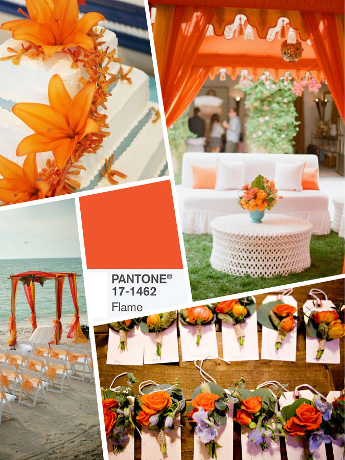 Flame color wedding 2017
