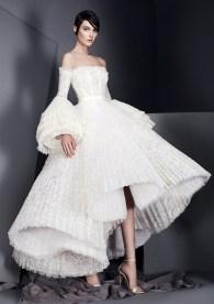 свадебное платье с юбкой и плессировкой Ashi Studio 2017