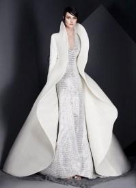 свадебное платье с накидкой плащем Ashi Studio 2017