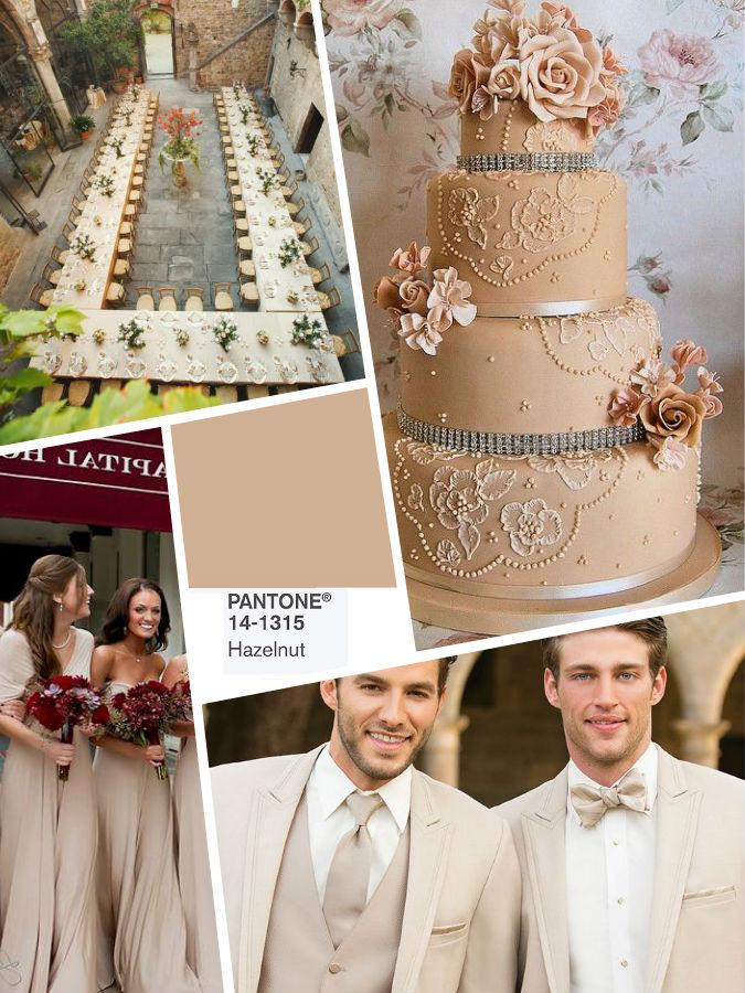 Hazelnut color wedding 2017 idea
