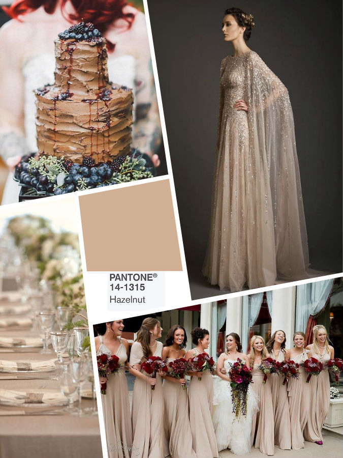 Hazelnut color wedding 2017