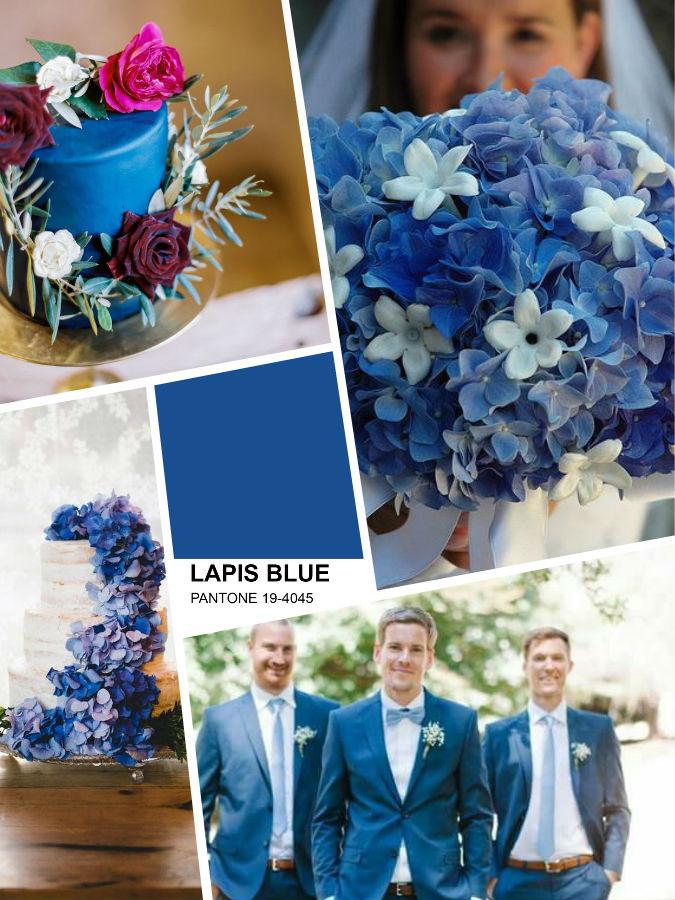 Lapis blu Pantone color wedding 2017