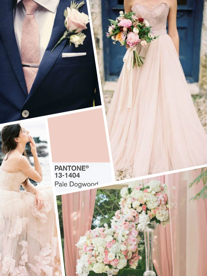 Pale Dogwood colore wedding