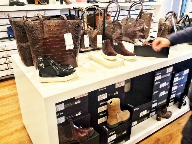купить обувь в аутлете Милан Серравалле Поллини
