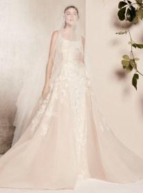 свадебное платье с вышивкой и большой юбкой Elie Saab bridal 2018