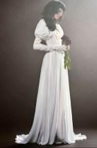 Самое оригинальное свадебное платье Vera Wang Spring 2018 объемные рукова