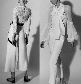 Carolina Herrera bridal 2018 наряд для невесты с брюками