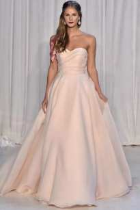 свадебное платье розового цвета Anne Barge