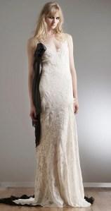 свадебное платье с черным elizabeth fillmore 2018