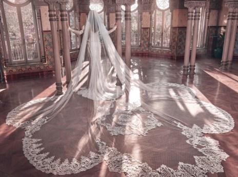 большая королевская фата Galia Lahav мода тренд 2018