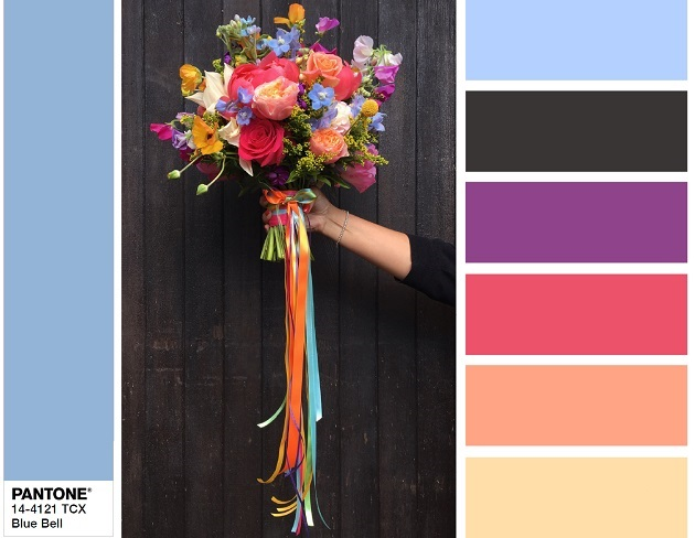PANTONE 14-4121 Bluebell - color combination