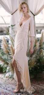 свадебное платье розового цвета Alexandra Grecco wedding dress 2018