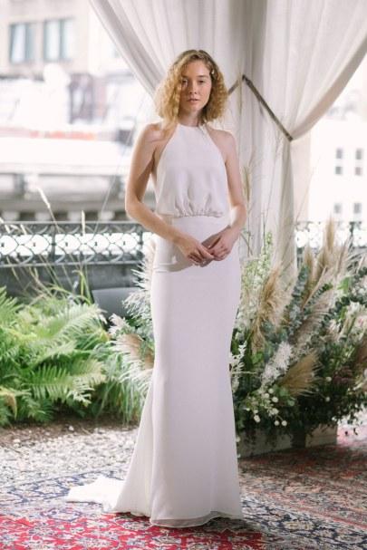 свадебное платье с американской проймой 2018 Alexandra Grecco