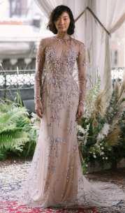 Alexandra Grecco wedding dress 2018 розовое свадебное платье